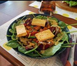 Tofu vegan salad image