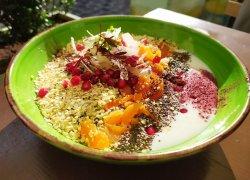 Raw vegan breakfast bowl image