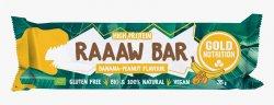 Baton Bio Raaaw Bar Banane Și Arahide 35g GOLD NUTRITION