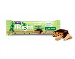 Baton proteic Vegan cu arahide si ciocolata neagra 40g, Fizico The Right