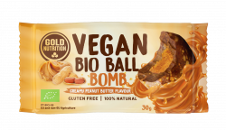 Bile Vegane cu Unt de Arahide, 30 g Gold Nutrition