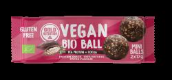 Bile Vegane Energizante cu Proteina si Cacao, 2x17g Gold Nutrition