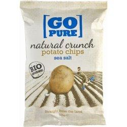 Chipsuri din cartofi cu sare coapte manual FARA GLUTEN, 125g GOPURE
