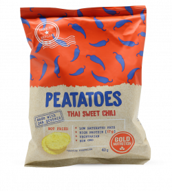 Chipsuri Proteice, Thai Sweet Chili, 40 gr, Gold Nutrition
