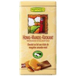 Ciocolata din lapte integral crocanta cu miere si migdale 100g Rapunzel