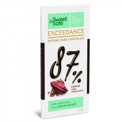 Ciocolata neagra 87% cu indulcitor din Stevia Sweet&Safe