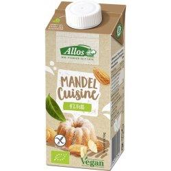 Crema de migdale lichida pentru gatit FARA GLUTEN bio 200 ml Allos