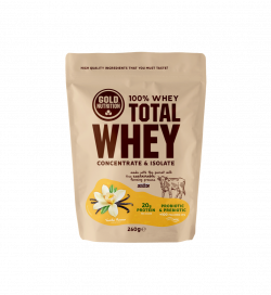 Pudra Proteica, Total Whey, Vanilie, 260 gr, Gold Nutrition