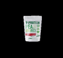 Pudra Proteica, V-Protein, Vegana, Capsuni, 240 gr, Gold Nutrition