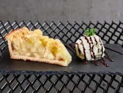 Tartă cu mere cu înghețată image
