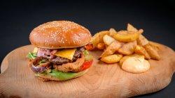 Burger onion rings image