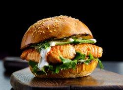 Burger cu Somon Norvegian image