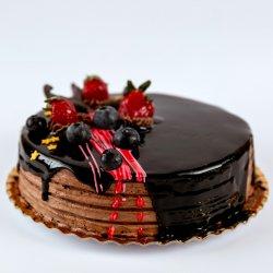 Tort ciocolată cu fructe de pădure image