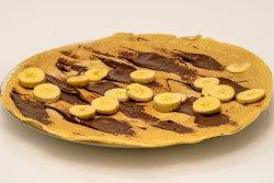 Clătită zăpăcită cu nutella și banane image