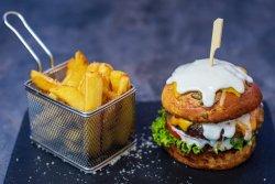 Cheesy love burgers image