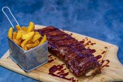 Coaste de porc BBQ cu cartofi image