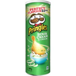 Chipsuri cu gust de smantana si ceapa Pringles, 165g image
