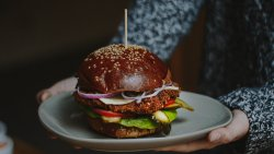 Savory Coated Chicken Burger image