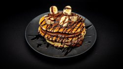 Pancakes cu banane și ciocolatã image