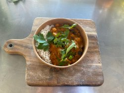 Curry de vinete cu naut image
