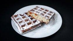 Gofră belgiană, făcută în casă, cu zahăr pudră image