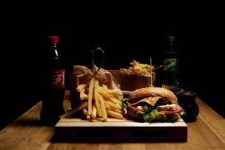 Meniu Happy Burger with Blue Cheese & Coke image