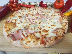 Pizza bacon e gorgonzolla image