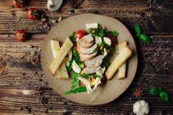Salată de rucola și pui image