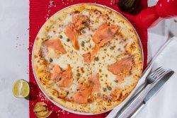Pizza Somon Fume și Capere image
