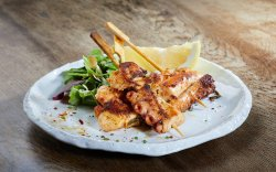 Grilled Octopus with Green Salad and Lime image