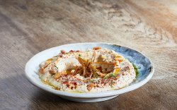 Spicy Hummus with extra virgin cretan olive oil image