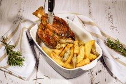 Ciolan si cartofi cu anghinare la cuptor + Birra Moretti 660ml image