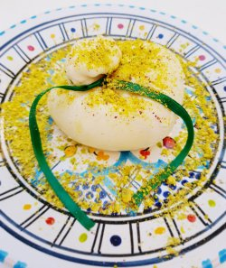 Burrata con pistacchio image