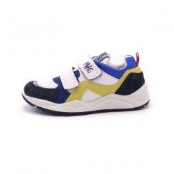 Sneakers piele Primigi white navy