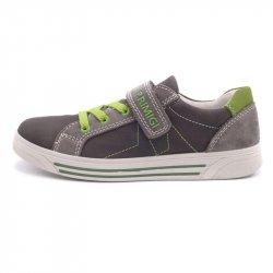 Sneakers baieti Primigi piele green grey