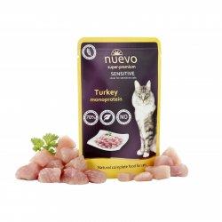 Hrană umedă pentru pisici NUEVO Sensitive Curcan image