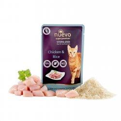 Hrană umedă pentru pisici NUEVO Sterilized Pui și Orez image