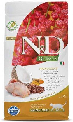 N&D Skin & Coat pentru pisici adulte cu Quinoa și Prepeliță image