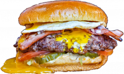 All American Bacon Cheeseburger with Egg image