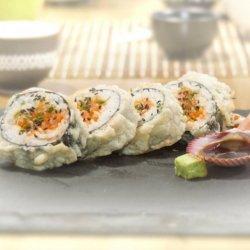 Spicy salmon tempura 4 pieces image