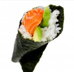 Salmon avocado temaki  image