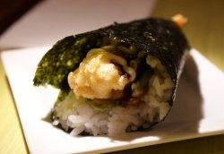 Shrimp tempura temaki image