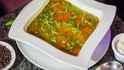 Borșul pipotelor de rață, cu legume / Duck Gizzard and Vegetable Borscht image