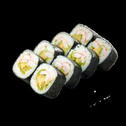 Shrimp and avocado Maki