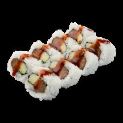 Spicy salmon cucumber