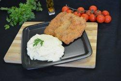 Meniu  Snitel de pui vienez + piure de cartofi + salata de muraturi asortate(650g)  image