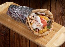 Lipie grecească cu Burger umplut cu Gouda image