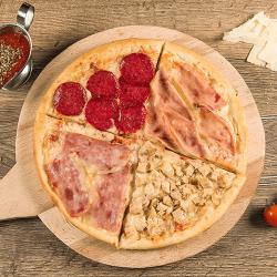 1+1  Pizza Four meat 30 cm image