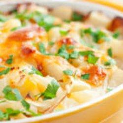 Cartofi la cuptor cu smântână și bacon
