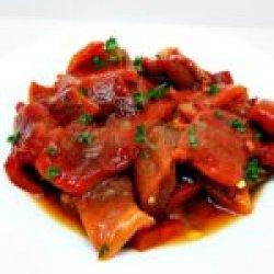 Salatp de ardei copți